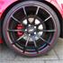 Golf GTI rote Felgenrandaufkleber